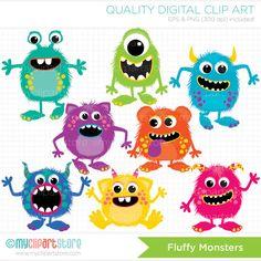 Monsters / Monster Alphabet Party Clip Art di MyClipArtStore