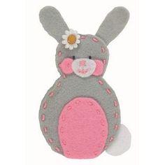 Rabbit Finger Puppet: Felt Beginners Kit Anchor. £6.40