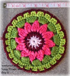 crochet mandala-step by step instructions-great for beginners