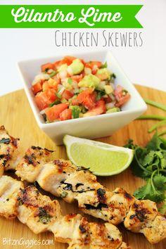 Cilantro Lime Chicken Skewers #recipe #maindish #chicken #meat #apeekintomyparadise #ticklemytastebuds