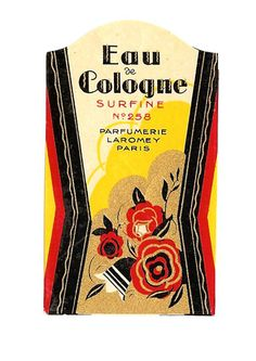 French Art Deco Perfume Label by ARTDECOGRAPHICS on Etsy, $13.99