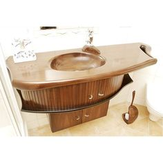 PRODUCTS :: LIVING AND DESIGN :: Bathroom :: Washbasins :: WOODEN BASIN ARPY
