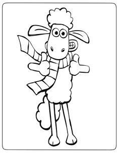 shaun das schaf 4 ausmalbilder für kinder. malvorlagen zum ausdrucken und ausmalen | shaun das