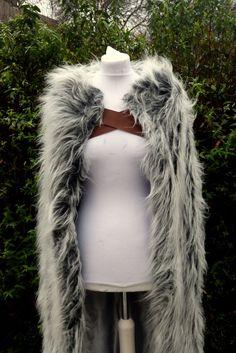 Game of Thrones Stark/Wildling Inspired Cloak by LittleWolfCosplay
