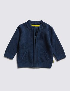 Pure Cotton Funnel Neck Knitted Top | M&S