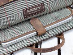 Leather Laptop Bag | Originally designed by Scaramanga