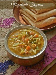 Mixed Vegetable Kurma | Hotel Style Chappati Kurma | South Indian Vegetable Kurma
