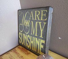 wooden sign, wall art, you are my sunshine, subway art, wall decor. $27.00, via Etsy.