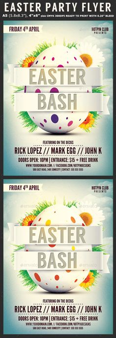 Easter Sunday Poster/Flyer Template | Creative, Timeline Covers