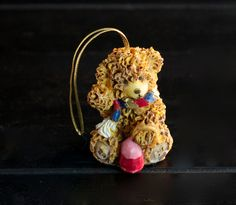 Cute ceramic Bear Christmas Ornament by MerelyEclectic on Etsy, $7.00
