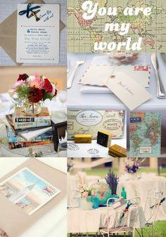 Travel Inspired Wedding Details   Wedding in a teacup blog