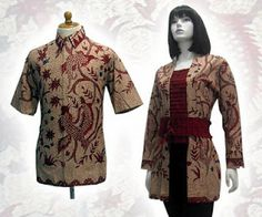 Batik dress set_man and woman