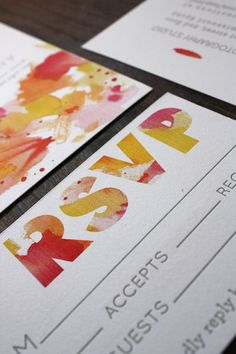 watercolor type