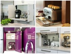 14. Ha nem szereted, ha szem előtt vannak a konyhai gépek, tedd el őket a szekrénybe.
