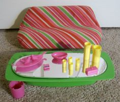 VINTAGE 80's BARBIE DREAM HOUSE FURNITURE SOFA & COFFEE TABLE ~100% COMPLETE