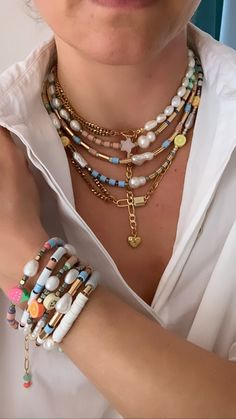 Ibiza, Beaded Necklace, Beaded Bracelets, Summer Bracelets, Trendy Accessories, Bracelet Patterns, Diy Jewelry, Jewerly, Chokers