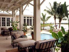 Backyard Oasis, just add a grill & a little bigger pool w/ hot tub= perfect - MyHomeIdeas.com
