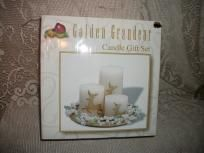 GOLDEN GRANDEUR CANDLE LIGHT SET REINDEER DESIGNS NIB