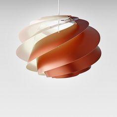 Swirl 1 Taklampa Medium, Koppar, Le Klint
