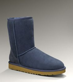 #xmas #gifts #ugg Classic Short Boots in Navy, UGG