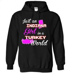 Indiana-turkey Girl - #striped tee #tee verpackung. ORDER NOW => https://www.sunfrog.com//Indiana-turkey-Girl-1173-Black-Hoodie.html?68278