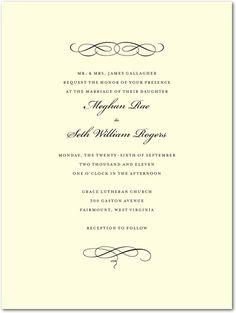 Scroll Formal Wedding Invitations $4.71 #weddinginvitations #weddings