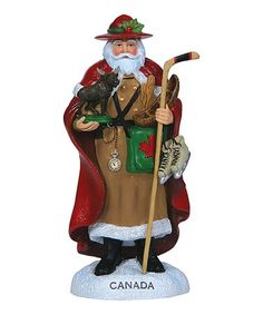 Meticulously handcrafted with a highly detailed design, this one-of-a-kind figurine brings the spirit of Christmas to life. Santa Figurines, All Things Christmas, Elf, That Look, Canada, Products, Elves, Fairy, Gadget