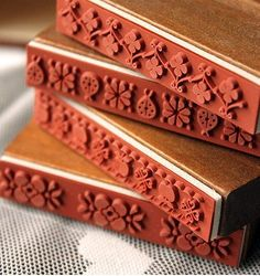 Wooden Rubber Stamp Vintage Style Rectangle Drawer door JolinTsai