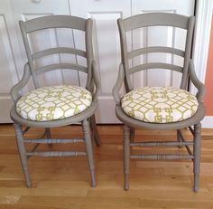 upcycled dining table & chair : vintage painted furniture : ruby