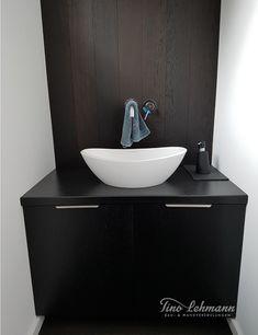 Wandgestaltung Gäste WC Frankfurt Im Italienischen Design. In Diesem Gäste  WC Bietet Ihnen Der Feine Marmorputz Und Das Edle Italienische Design Holz  ...
