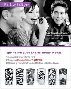 Pin it with Style! Tervis Contrast Collection Challenge https://www.facebook.com/TervisTumblerCo/app_410748072321208