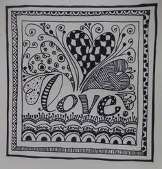 Day 119 : Freestyle Zentangle Love | 365 Days of 'Love'