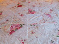 quilting with lace.....