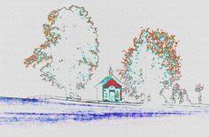 """'Stoffdesign """"Votivkapelle 150""""' von Rudolf Büttner bei artflakes.com als Poster oder Kunstdruck $18.71"""