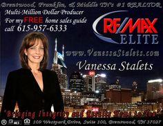 Ad Design Examples - Remax Elite - Vanessa Stalets Image Marketing Pros 615-200-7717 Nashville 865-291-0373 Knoxville