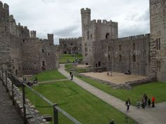 Caernarvon Castle, Wales built by King Edward I @Jane Collin @Mary Coughlin