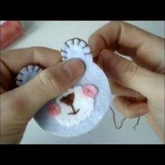 video for DIY felt Teddy Bear