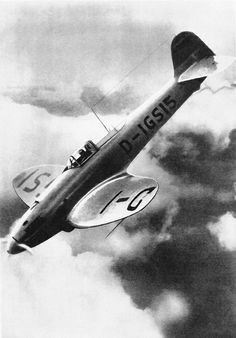 """Heinkel He 113 """"Super Fighter"""" which saw action in the Battle of Britain. 