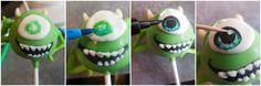 Pint Sized Baker: Monster's Inc. Mike Wazowski Cake Pops