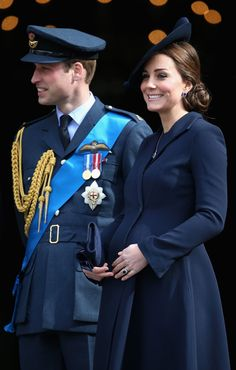 Kate Middleton was glowing in her monochrome navy look.