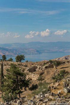 Lake Tiberias seen from Um Qays in Jordan