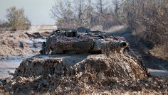 Behold the mighty swamp #monster! Spanish Army #Leopard 2E MBT during military exercise.