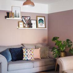 Warm dusky pink with grey living room idea – DIY Home Decor Living Room Colors, Living Room Grey, Living Room Sets, Interior Design Living Room, Living Room Furniture, Living Room Ideas Dulux, Dusky Pink Bedroom, Pink Room, Living Room Decor Inspiration