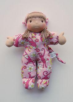 monkeys-on-pink by Polar Bear Creations Dolls, via Flickr
