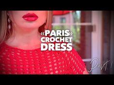 "Вяжем роскошное платье крючком ""PARIS"" / How to crochet beautiful dress ❤️👠 - YouTube Knit Crochet, Paris, Knitting, Celebrities, Top, Clothes, Dresses, Youtube, Beautiful"
