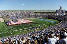 Falcon Stadium home of the Air Force Academy located in Colorado Springs, CO