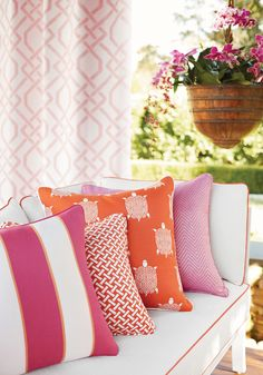 Pink Pillows from Portico Collection Similiar items In stock now at local shop Annex of paredown, in Ann Arbor