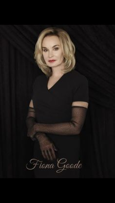 """Jessica Lange Stars In FX's TV Hit """" American Horror Story: Coven As The Supreme Witch, Fiona Goode. Also guest starring this season: Kathy Bates,Angela Bassett as well as many old faces re-appearing. Ahs, American Horror Story Seasons, American Horror Story Coven, Jamie Lee Curtis, Susan Sarandon, Helen Mirren, Coven Characters, Cheryl Ladd, Evan Peters"""