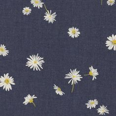 Art Gallery Fabrics - Denim Prints - Ragged Daisies in Indigo