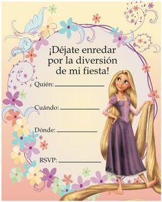 Resultado de imagen para tarjetas deinvitacion a mi fiesta para niñas Rapunzel Birthday Party, 4th Birthday Cakes, Tangled Party, Tangled Rapunzel, Princess Birthday, Princess Party, Girl Birthday, Princess Sophia, Tinkerbell Party